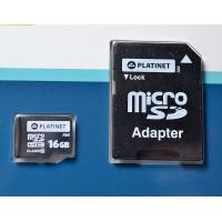 Card memorie microSD 16GB cu adaptor SD